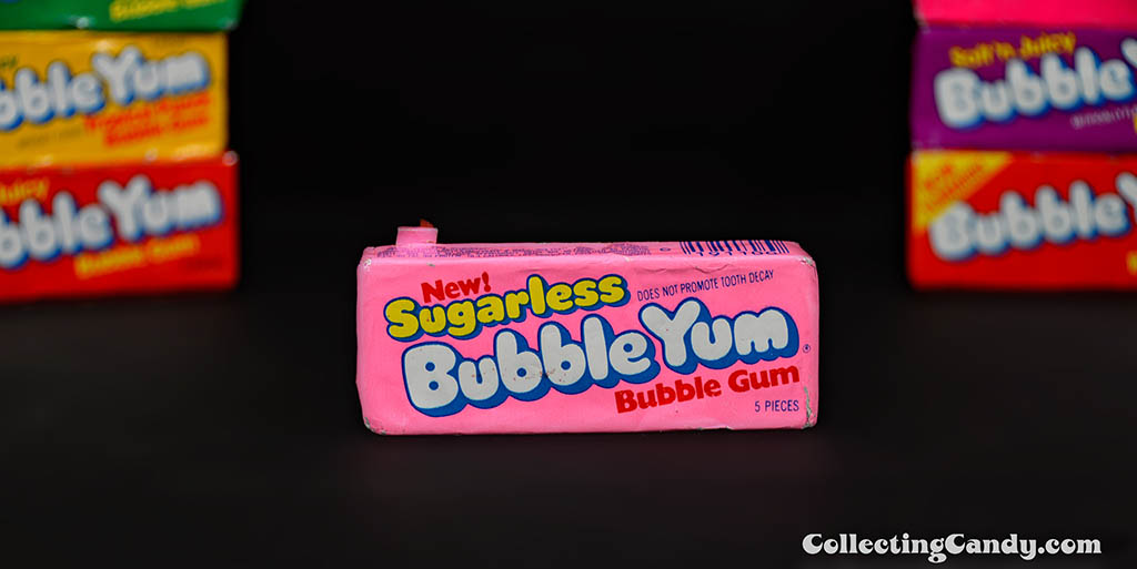 Bubble Yum - New Sugarless Bubble Yum bubble gum unopened pack - 1979