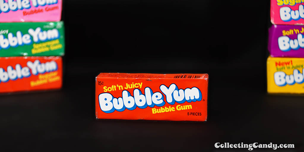 Bubble Yum - Soft 'n Juicy - 15-cent  bubble gum unopened pack - 1976