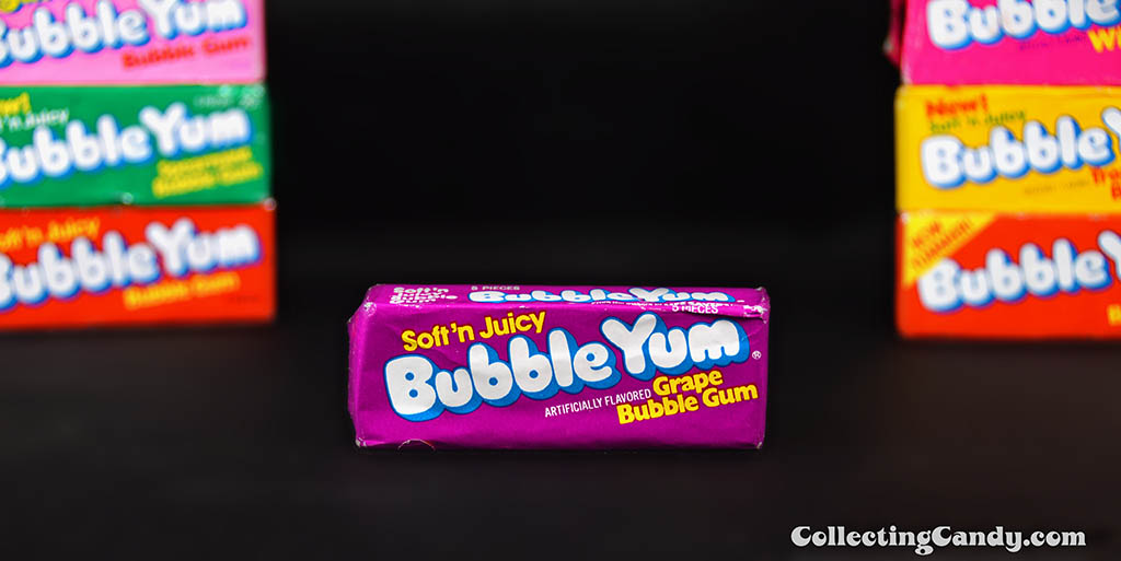 Bubble Yum - Soft 'n Juicy - Grape bubble gum unopened pack - 1978