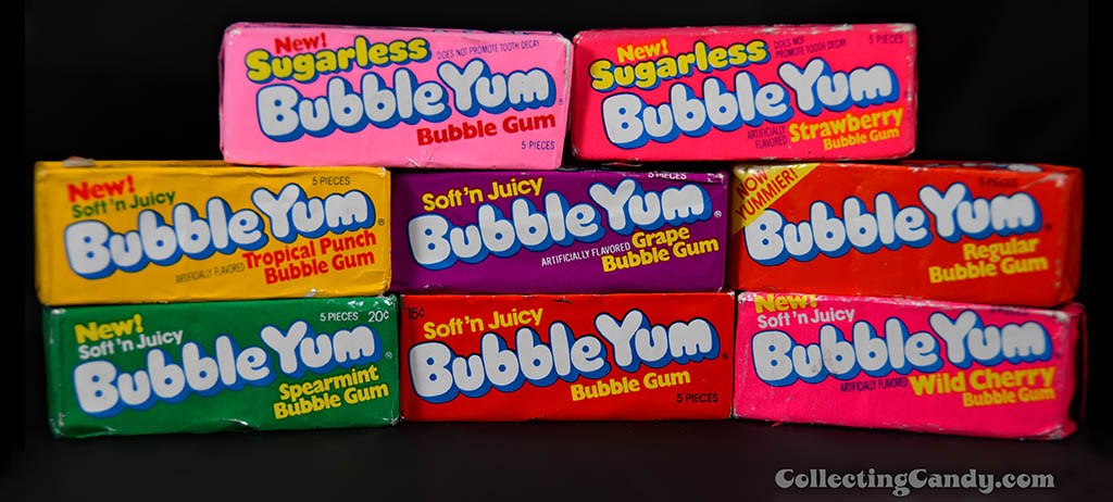 1970's Bubble Yum Unopened Packs - Group Shot