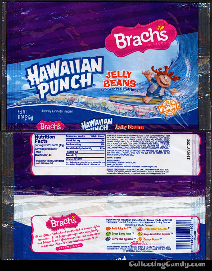 Farley's & Sathers - Brach's - Hawaiian Punch Jelly Beans - 11oz candy package - 2012