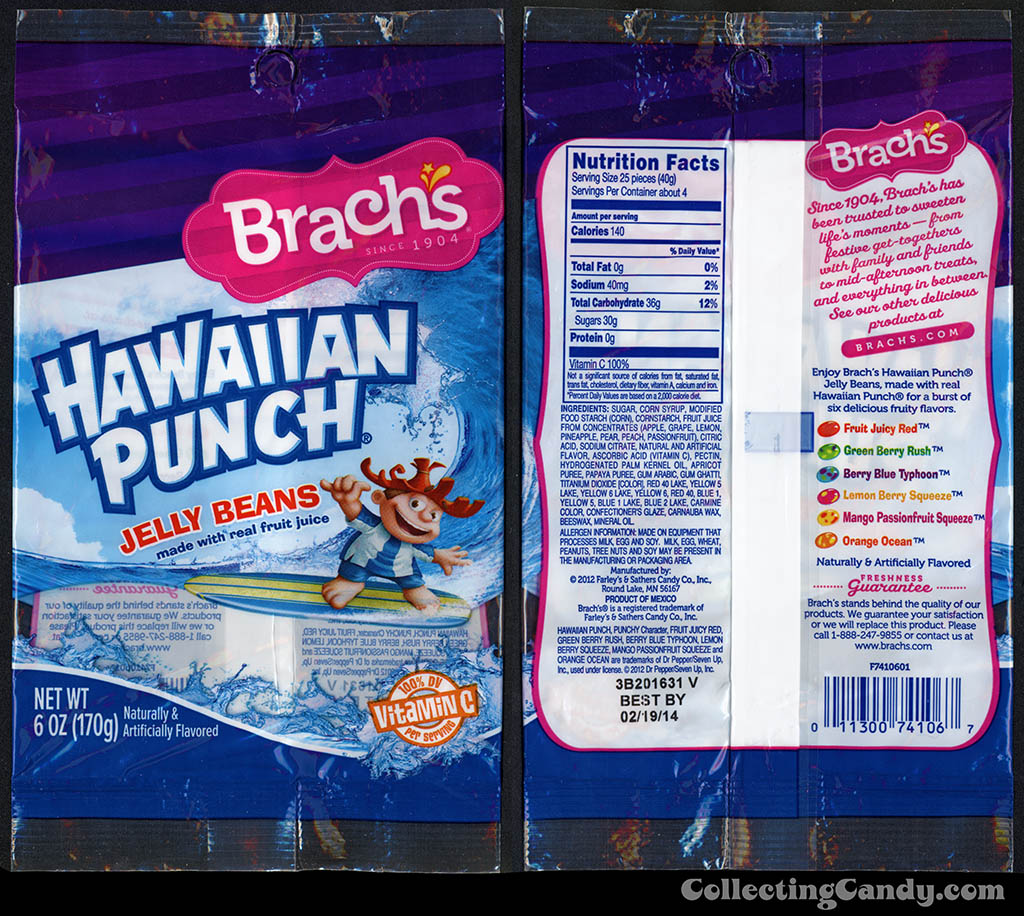 Farley's & Sathers - Brach's - Hawaiian Punch Jelly Beans - 6oz candy package - 2013