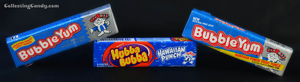 Hawaiian Punch gum packs - new and old