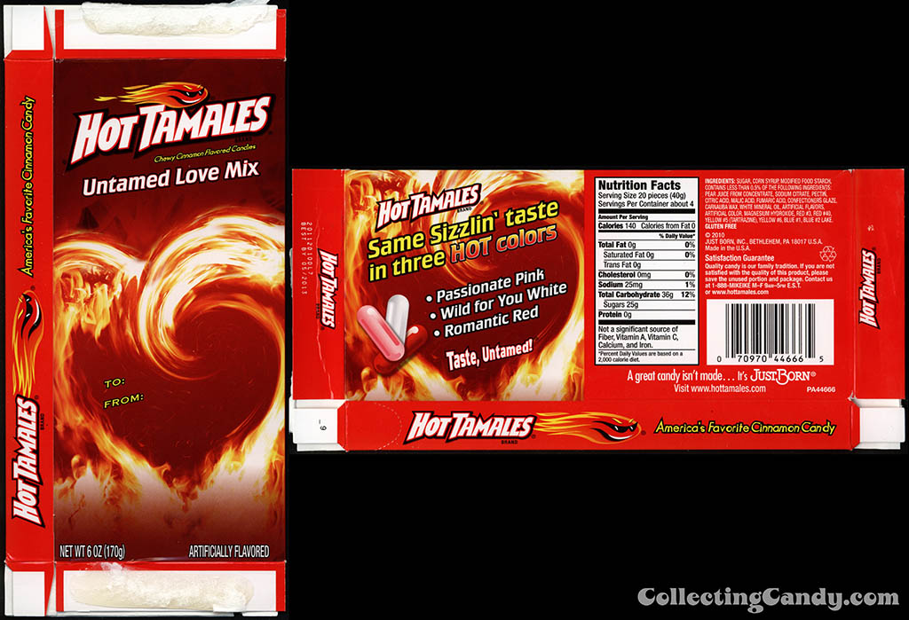Just Born - Hot Tamales Untamed Love Mix - 6oz Valentine's candy box - 2012