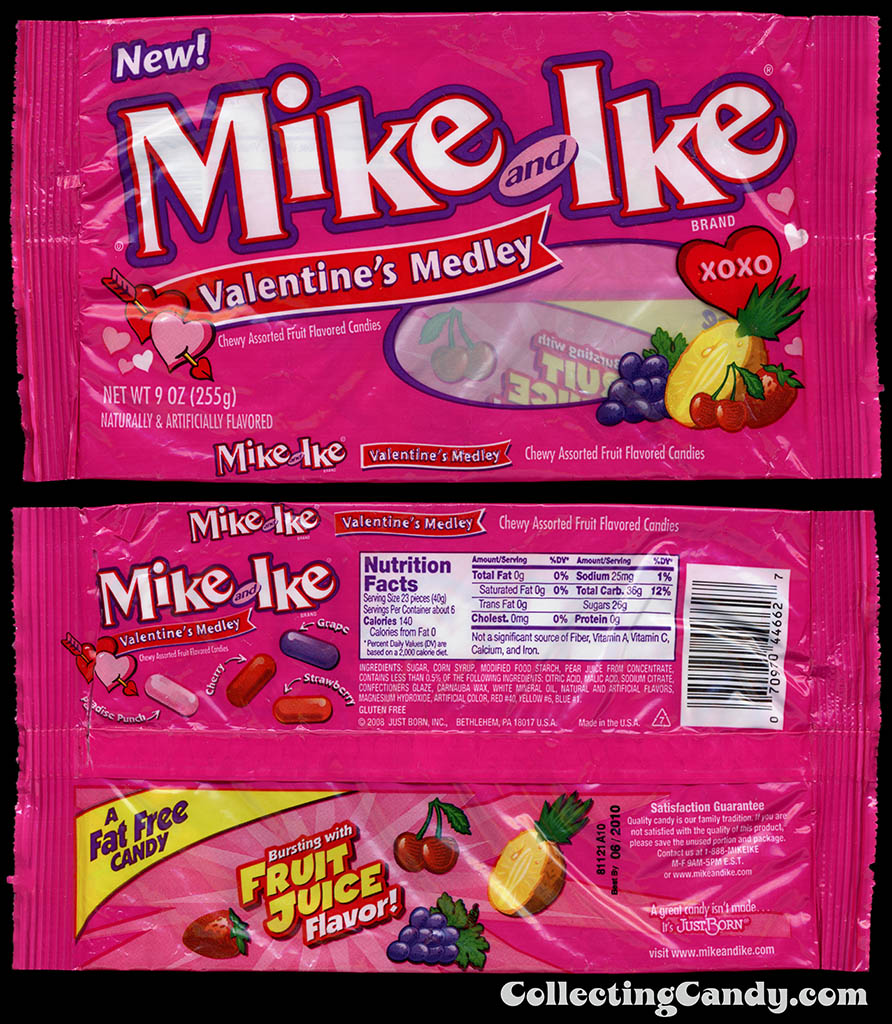 Just Born - Mike and Ike Valentine's Medley - 9 oz candy package - 2009