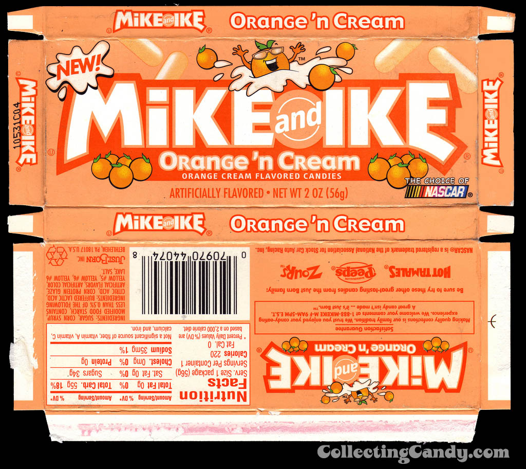 JustBorn - Mike and Ike Orange n Cream box - 2004