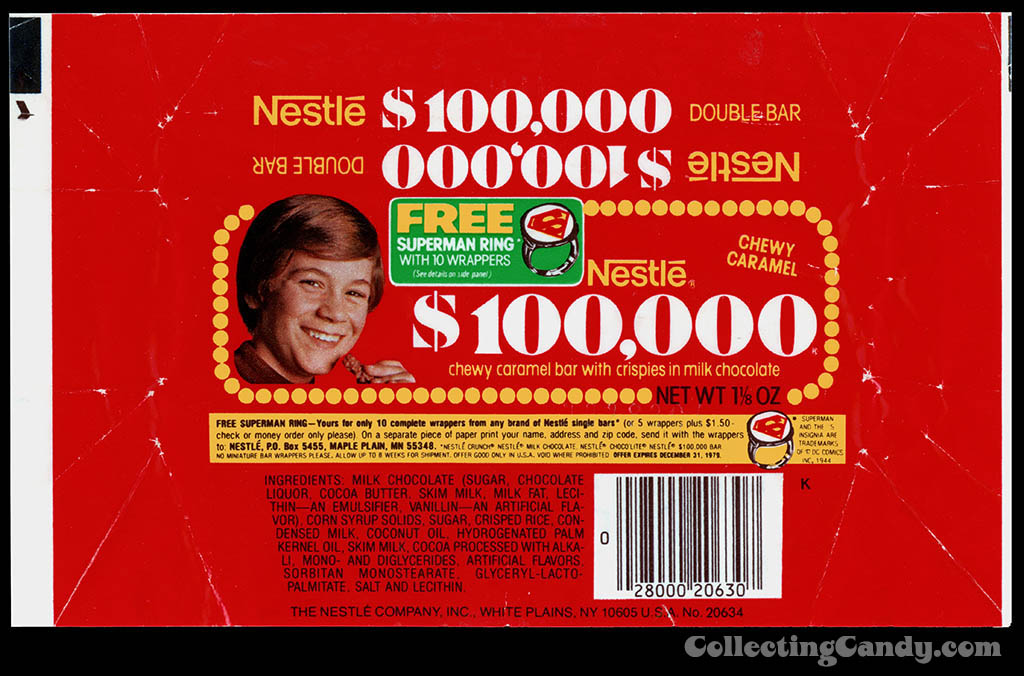 Nestle - $100,000 bar wrapper superman offer - 1979