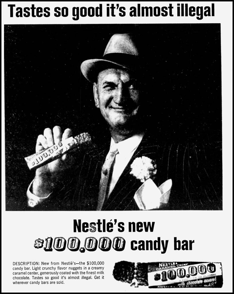Nestle's 100,000 newspaper ad - Toledo Ohio - October 14, 1964 - Courtesy Jason Kaphingst