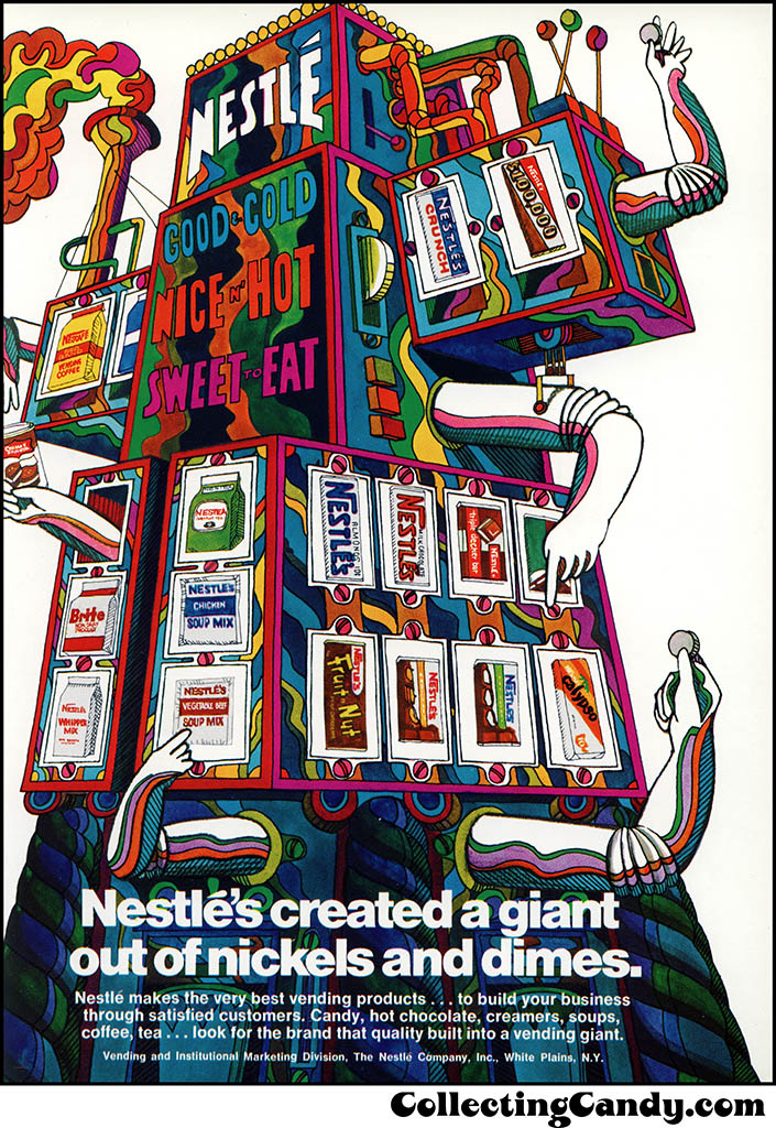 Nestle's - Vending trade magazine ad - 1969