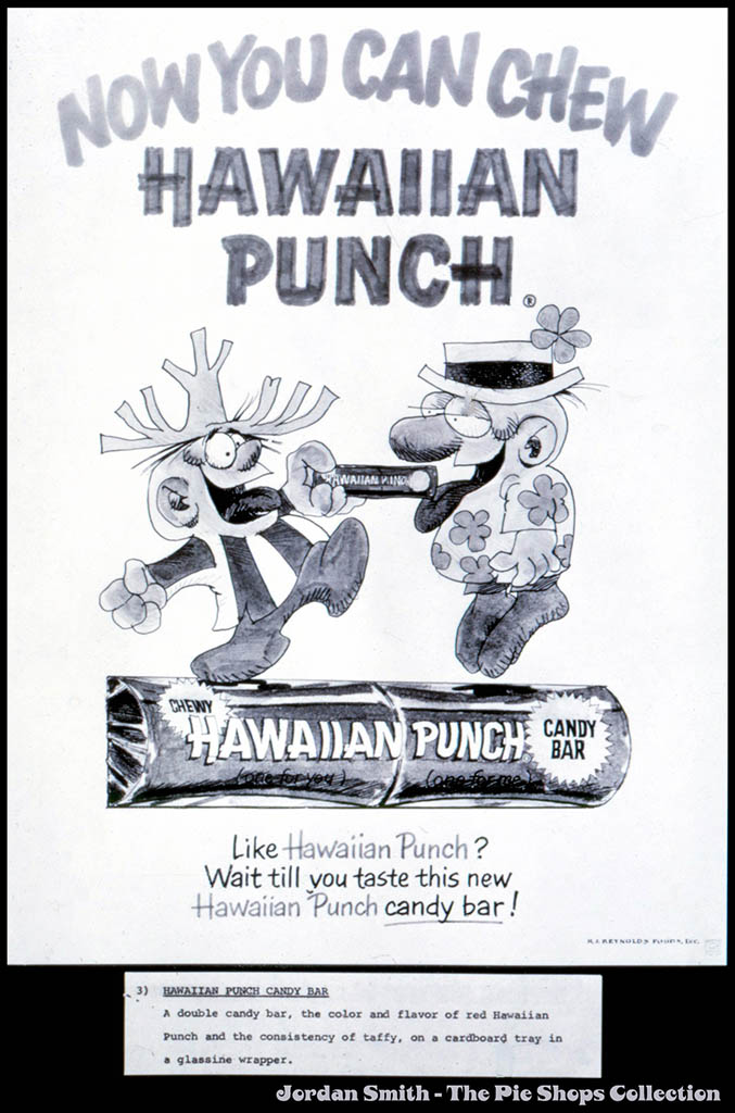 RJ Reynolds Foods - Hawaiian Punch candy bar advertising concept board - circa 1968 - Image Source: The Pie Shops Collection