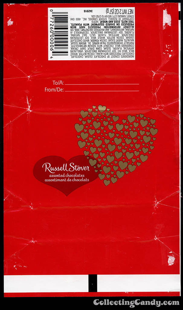 Russell Stover - Valentine's assorted chocolates box wrap - 2013