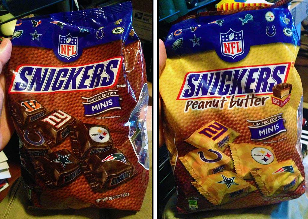 Snickers NFL Limited Edition Minis bags - Fall 2013