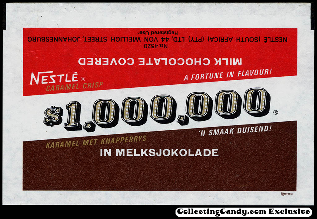 South Africa - Nestle - $1,000,000 bar wrapper - circa 1972
