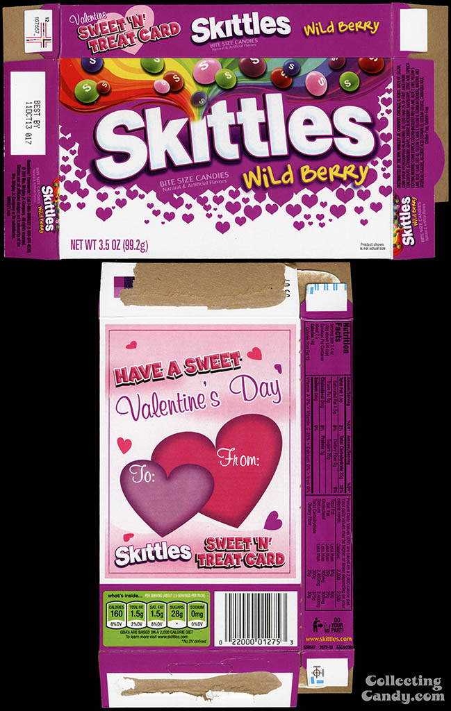 Wrigley - Skittles Wild Berry - 3.5 oz Valentine's Edition candy box - 2013