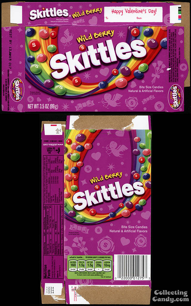 Wrigley - Skittles Wild Berry - 3.5 oz Valentine's Edition candy box - 2014