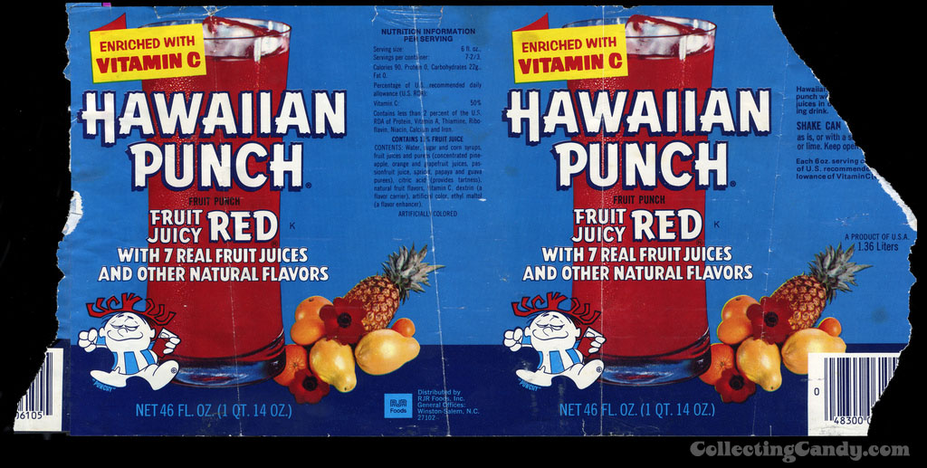 Hawaiian Punch - fruit juicy red - can label - 1970's