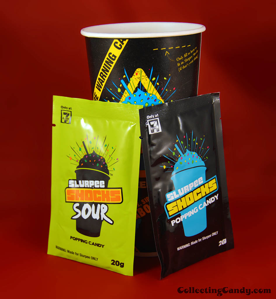 Australia - 7-Eleven - Slurpee Shocks theme cup and candy packs - January 2014