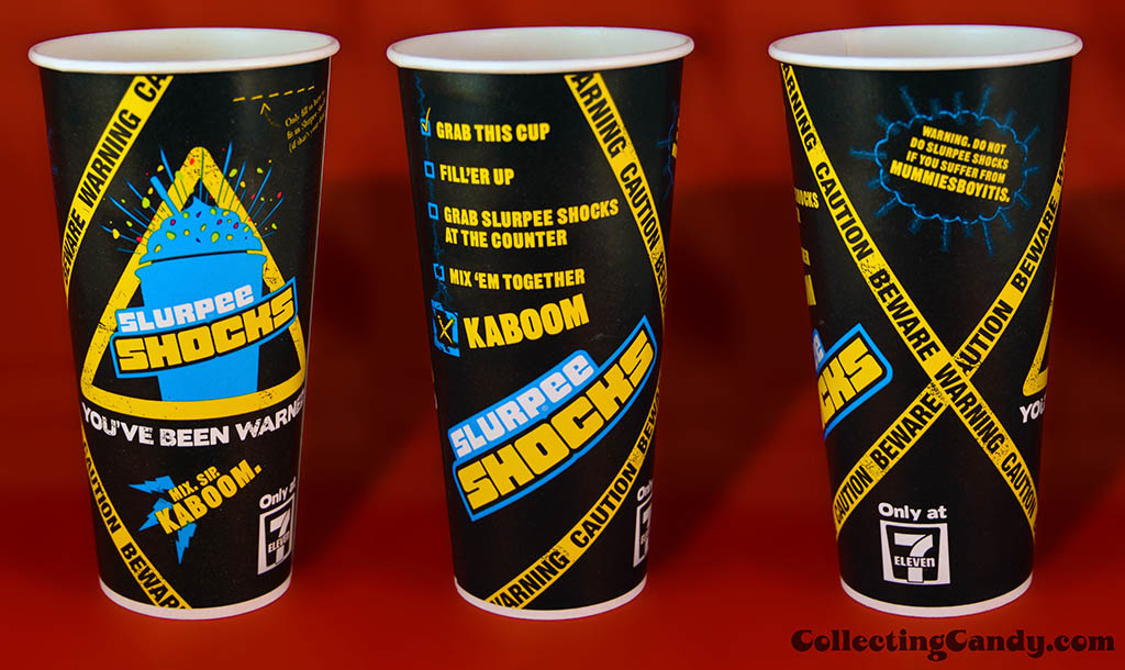 Australia - 7-Eleven - Slurpee Shocks theme cup - multi-view - January 2014