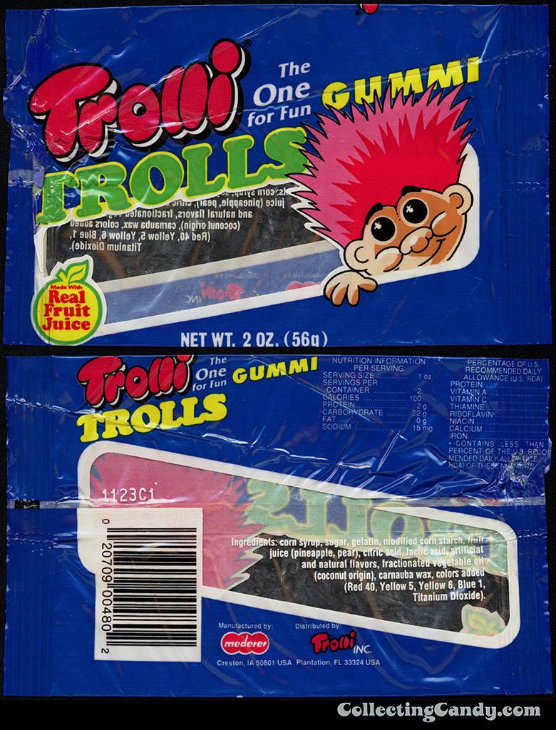Mederer - Trolli - Gummi Trolls - 2 oz candy package - 1993