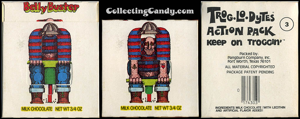 Pangburn - Trog-Lo-Dytes Action Pack #03 - Belly Buster - chocolate candy package - 1970's