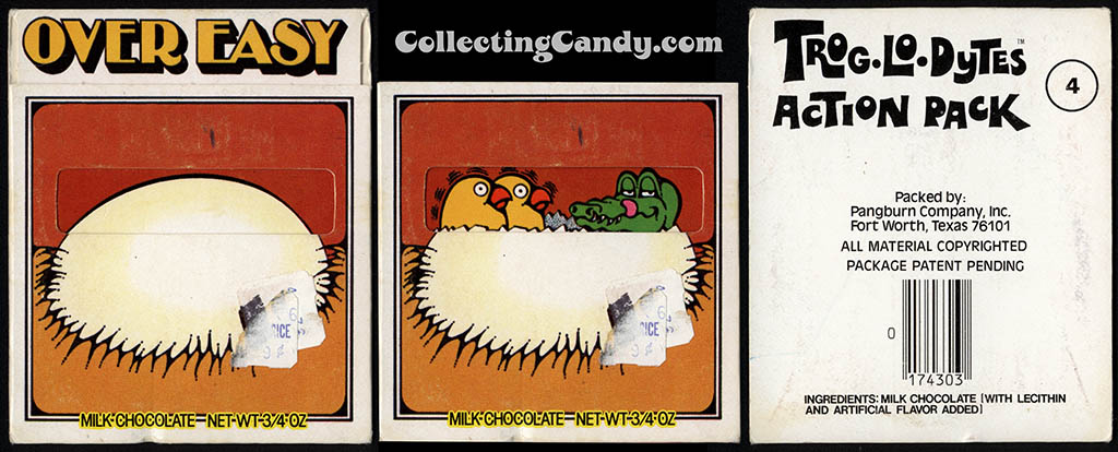 Pangburn - Trog-Lo-Dytes Action Pack #04 - Over Easy - chocolate candy package - 1970's