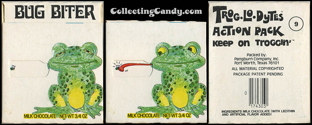 Pangburn - Trog-Lo-Dytes Action Pack #09 - Bug Biter  - chocolate candy package - 1970's