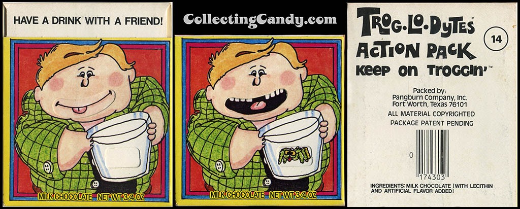 Pangburn - Trog-Lo-Dytes Action Pack #14 - Have a Drink with a Friend  - chocolate candy package - 1970's