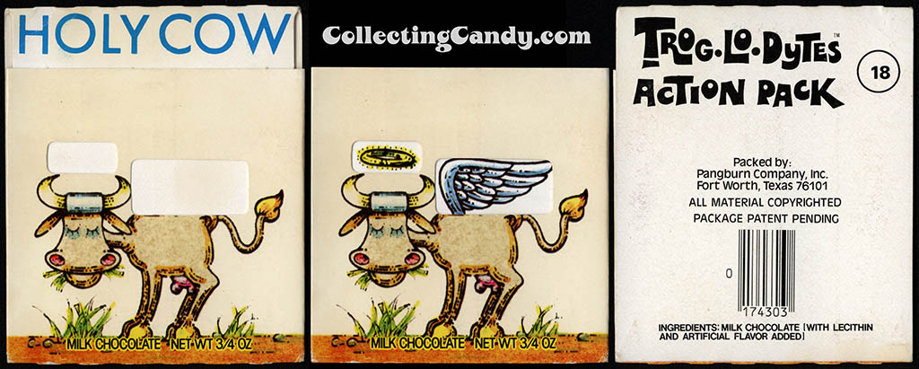 Pangburn - Trog-Lo-Dytes Action Pack #18 - Holy Cow - chocolate candy package - 1970's