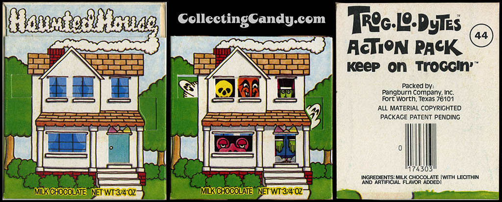 Pangburn - Trog-Lo-Dytes Action Pack #44 - Haunted House - chocolate candy package - 1970's