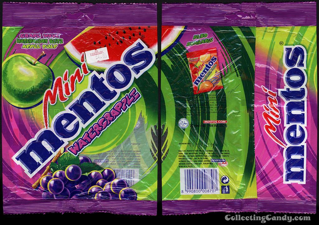Perfetti - Van Melle - Mini Mentos Watergrapple - candy package - 2010