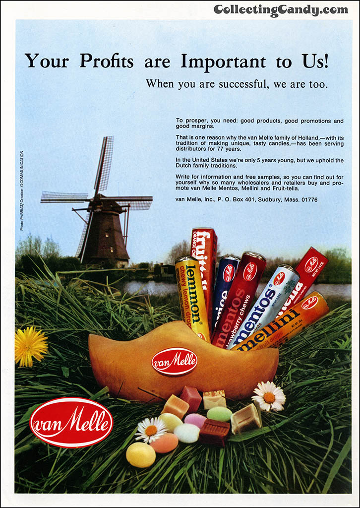 VanMelle - Your Profits are Important to Us - Mentos - candy trade magazine advertisement - March 1977