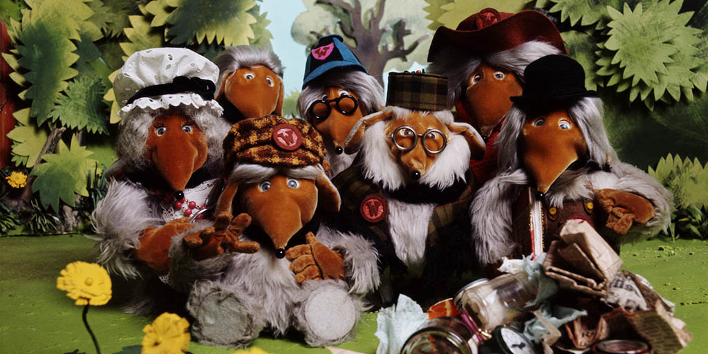 The Wombles TV show promotional photo 1970's - Source ITV