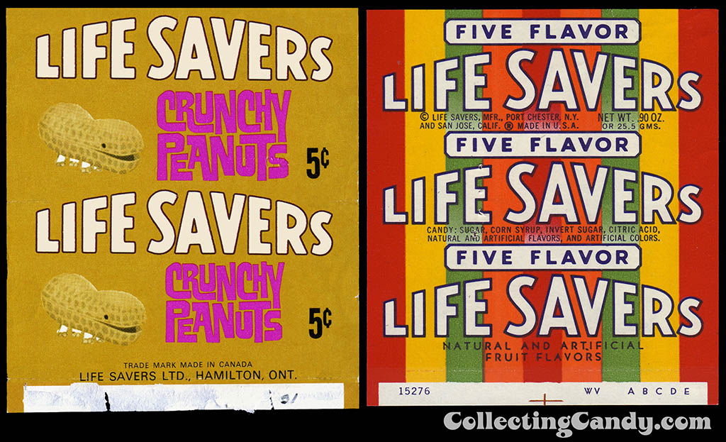 1960's Life Savers Crunchy Peanut and Life Savers Five Flavor