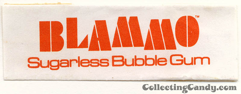 Amurol - Blammo Sugarless Bubble Gum - Fruit - individual stick gum wrapper - 1977