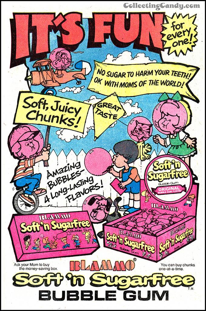Amurol - Blammo Sugarless Bubble Gum - comic book ad - mid-1970's