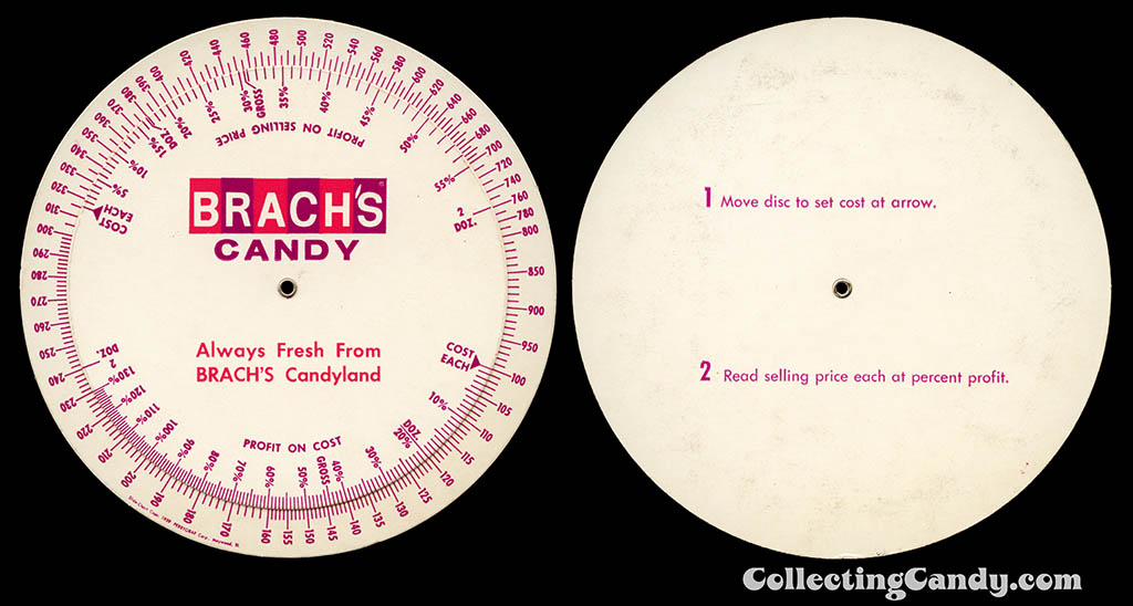 Brach's - Easter 1972 salesman profit disc wheel