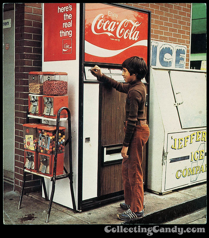 CC_Buying a Soda with candy vending machines nearby - 1978