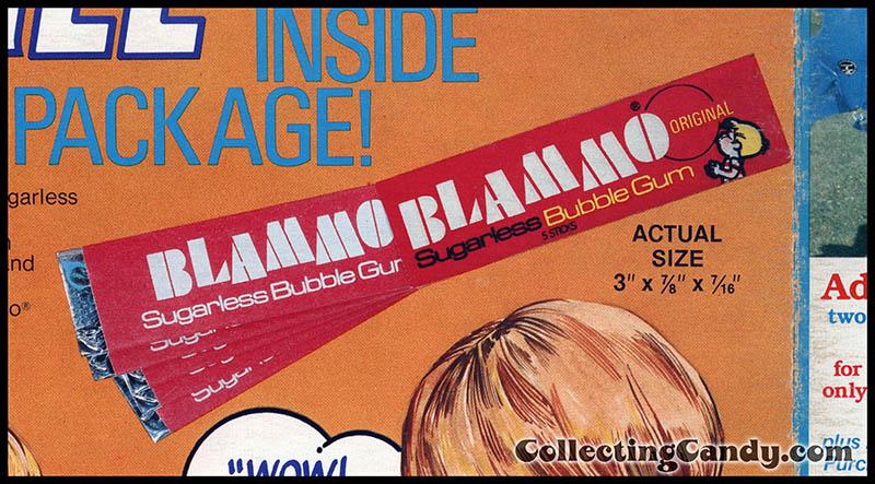 Cookie Crisp Blammo gum pack close-up - 1978
