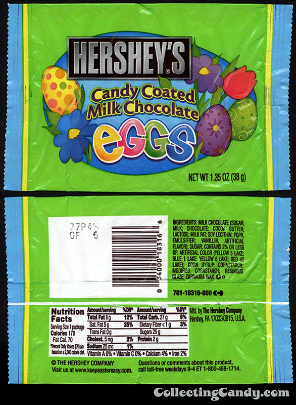 Hershey's - Candy Coated Milk Chocolate Eggs - 1.35oz Easter candy package - 2011