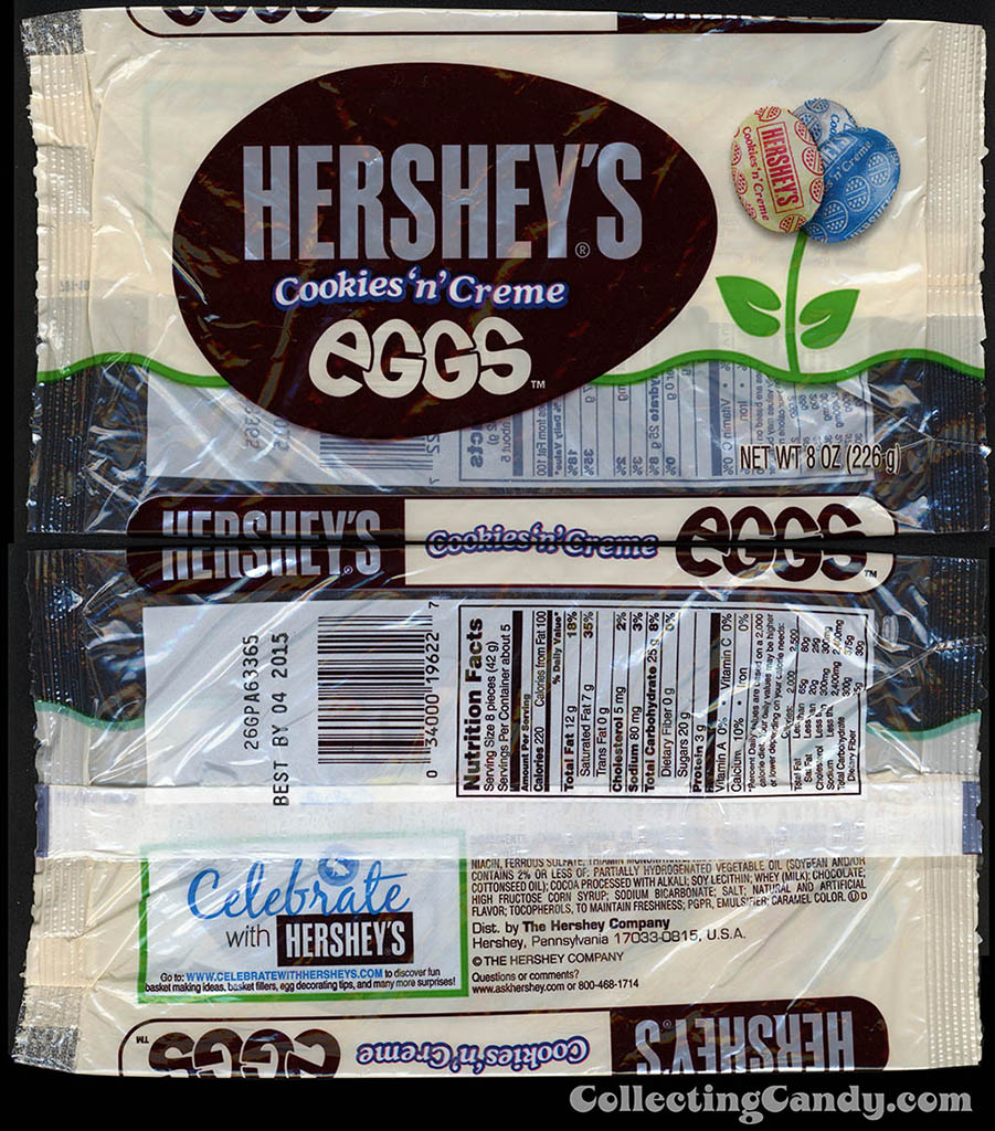 Hershey's - Hershey's Cookies 'n' Creme Eggs - 8 oz Easter candy package - March 2014