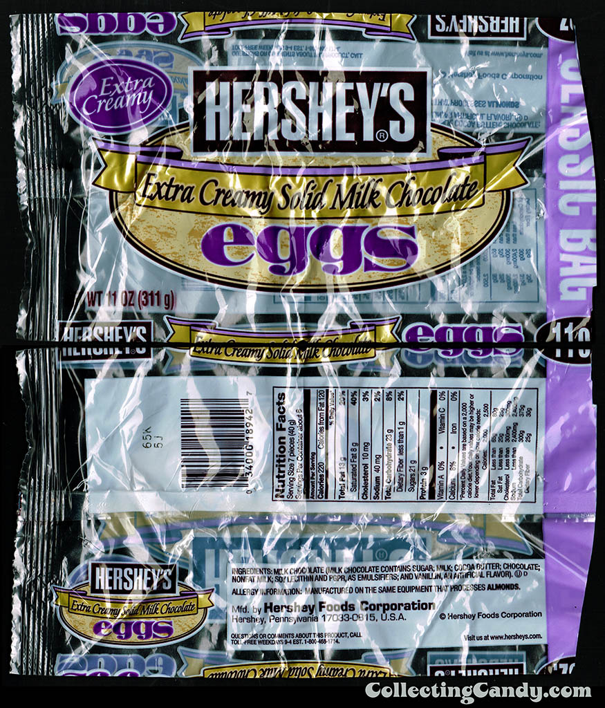 Hershey's - Hershey's Extra Creamy Milk Chocolate Eggs - 11oz Easter candy package - circa 2005