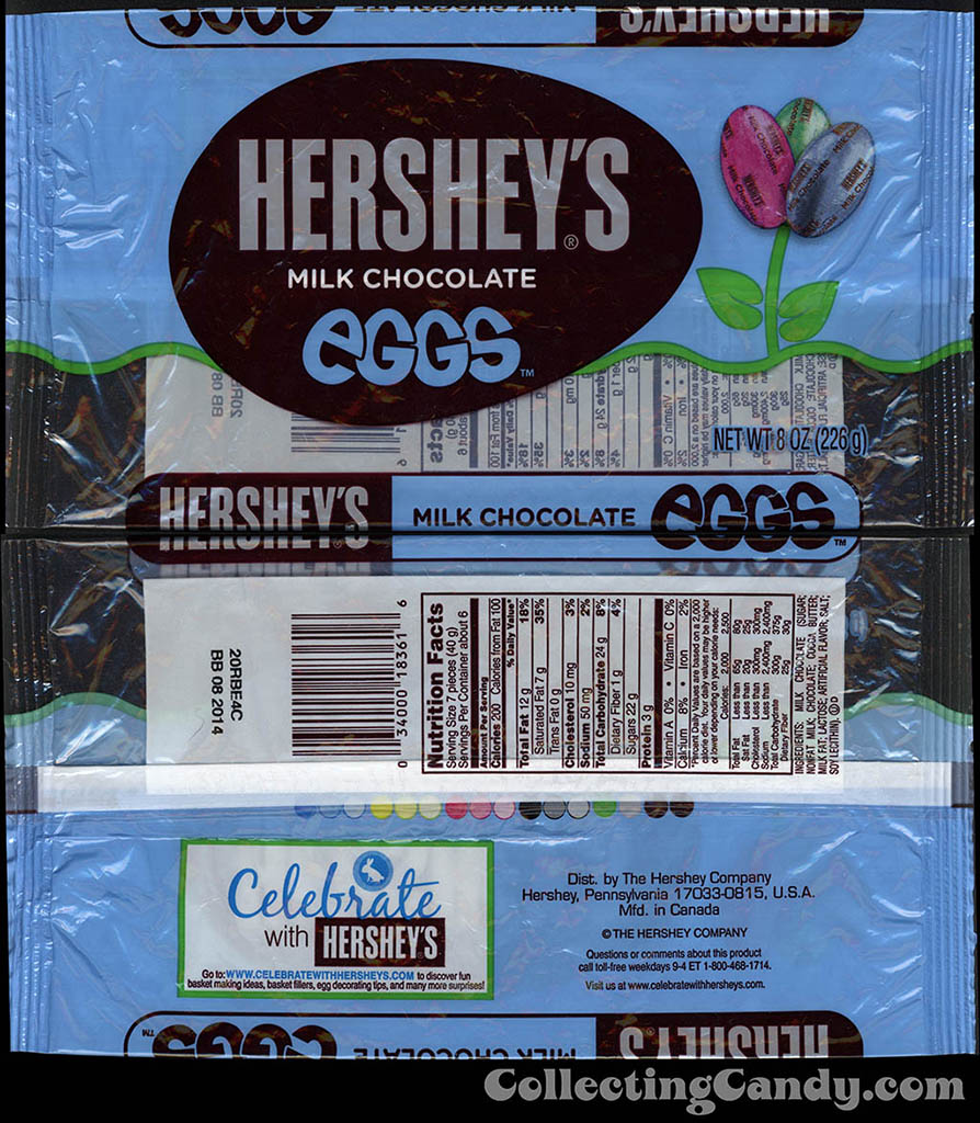 Hershey's - Hershey's Milk Chocolate Eggs - 8oz Easter candy package - March 2014
