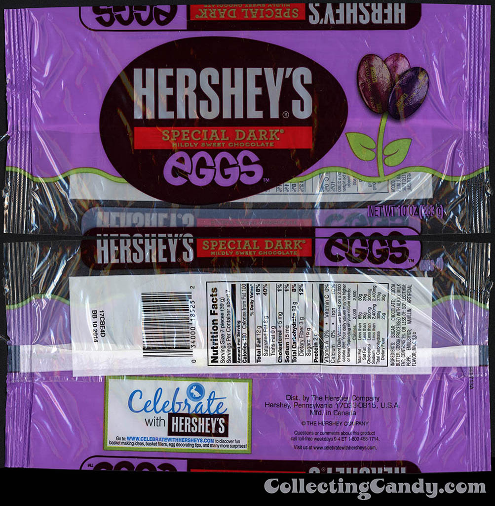 Hershey's - Hershey's Special Dark Chocolate Eggs - 10oz Easter candy package - March 2014