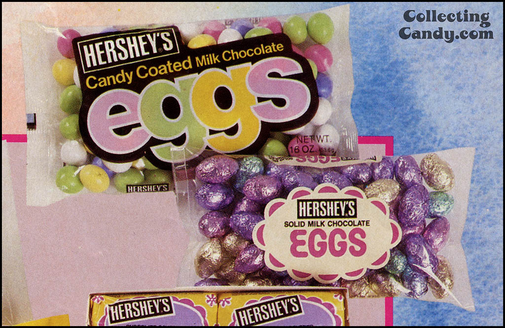Hershey's-Reese's - One-Stop Easter Shopping - Sunday newspaper circular Hershey's Eggs close-up - Spring 1989