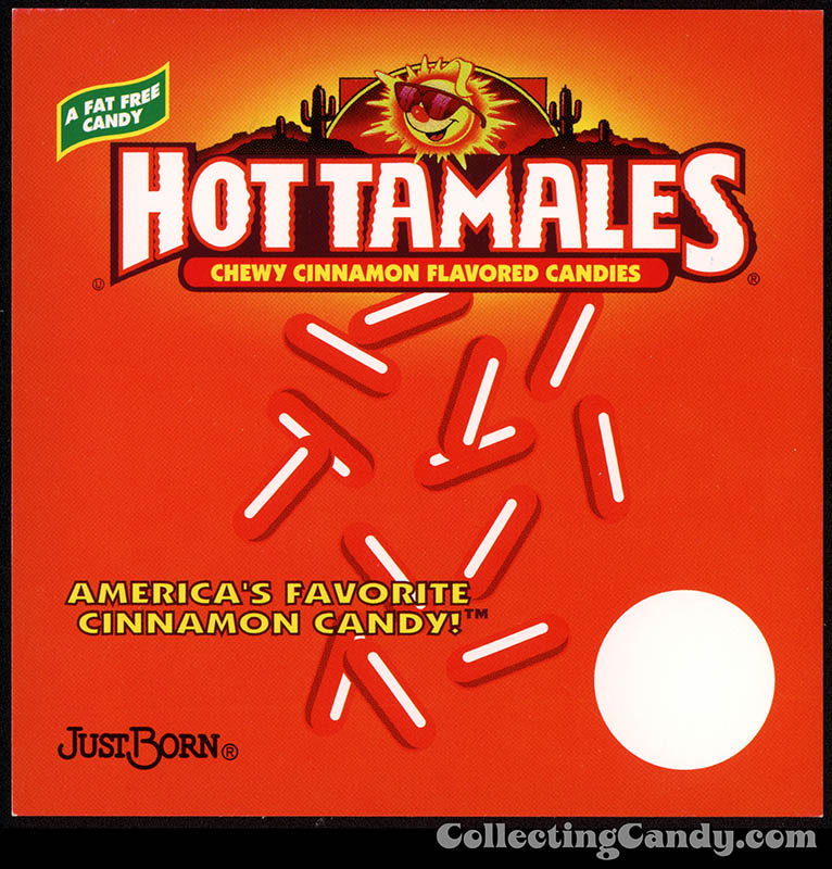 Just Born - Hot Tamales - candy vending machine insert card - late 1990's to early 2000's