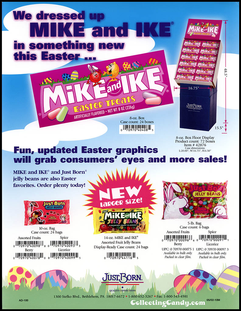 Just Born - Mike and Ike Easter Treats - Easter promotional sales flyer - 2002