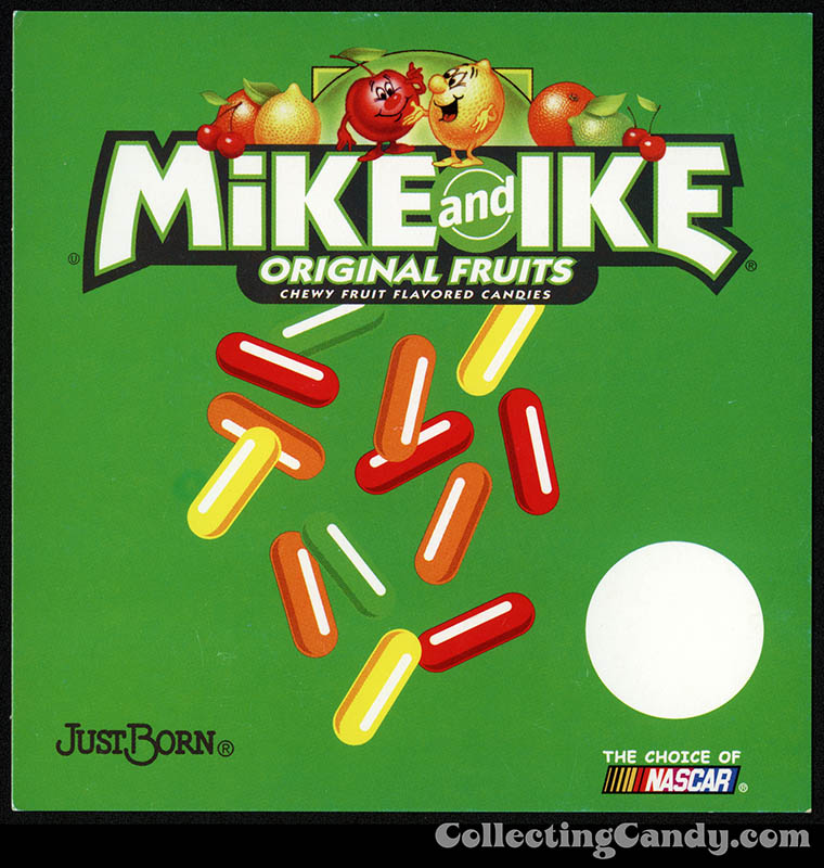 Just Born - Mike and Ike Original Fruits - candy vending machine insert card - 1990's-2000's