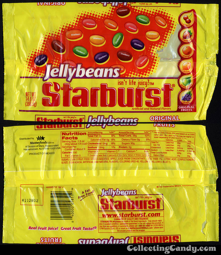 Mars - Starburst Jellybeans - 14 oz candy pacakge - late 1990's early 2000's