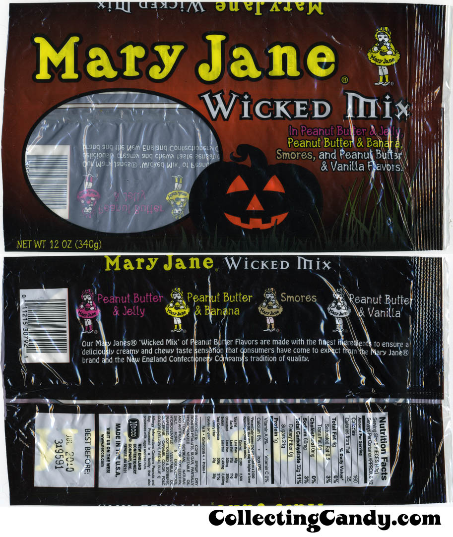 Necco - Mary Jane Wicked Mix candy bag - 2009