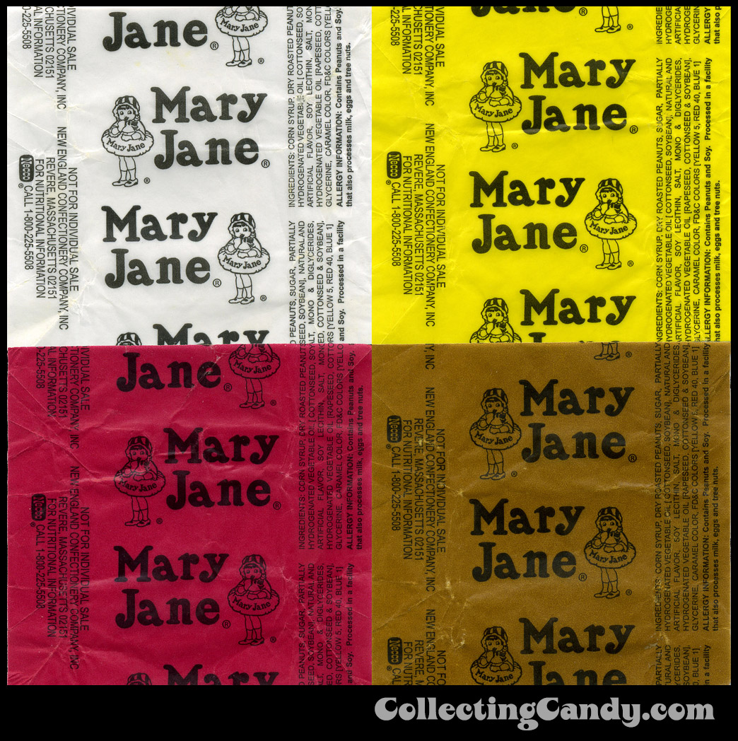 Necco - Mary Jane Wicked Mix candy wrappers - 2009